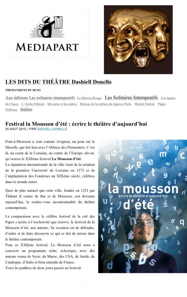 Microsoft Word - La mousson .. mediapart..LES DITS DU THÉÂTRE